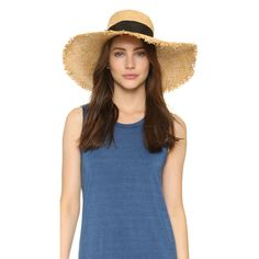 Kate Spade New York Raffia Sun Hat ($89) ❤ liked on Polyvore featuring accessories, hats, natural, kate spade, wide sun hat, raffia hat, sun hat and raffia sun hat