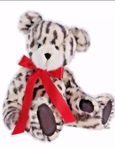 Boyds Bears Zoey Zebra Leopard Black White Spotted Striped Jointed Bear Plush   | eBay