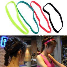 2017 Women Men Yoga Hair Bands Sports Headband Anti-slip Elastic Rubber Sweatband Football Yoga Running Biking #Affiliate