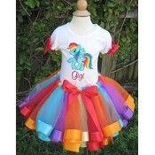 Girls Birthday Rainbow Dash My Little Pony Elegance Tutu Set