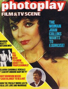 Picture goer Joan Collins Old 1953 Film Magazine cover  poster reproduction.