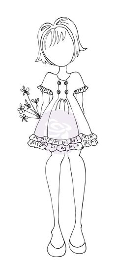 Prima - CLING STAMP - KEIRA by Julie Nutting