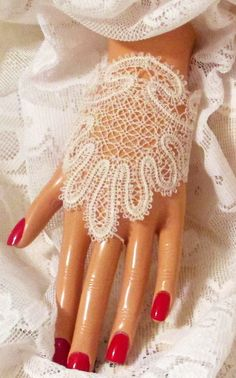 Fingerless Bridal Lace Gloves Special Occasions by joyspecialties, $15.95
