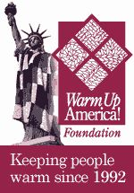 Warm Up America provide warm, hand-made blankets to homeless shelters, battered women's shelters, and as disaster relief (fires, floods, etc.). Warm Up America volunteers are encouraged to donate their finished blankets to a local organization (or a local chapter of a national organization) near where they live or work.