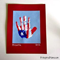 Flag Craft - Patriotic HandPrint American Flag Craft - B-InspiredMama.com