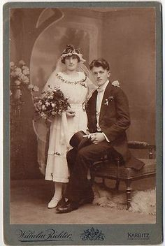 Beautiful 1920 Czech Wedding Photo. This bride probably had rosemary in her bouquet, a very important Czech tradition.
