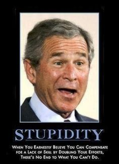 Was Geo Bush really as dumb as he looked? Widely derided as the very worst President in American history, will the passing of time make us look more kindly on those blank, bewildered features? Have we - in Dubya's own immortal phrase - misunder estimated him?
