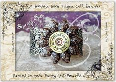 Bullet Jewelry Shotgun Casing Filigree Cuff by ScarlettSage. Shotgun Shell Jewelry, Ammo Jewelry, Bullet Jewelry, Diy Jewelry, Jewelry Bracelets, Jewelry Making, Shotgun Shells, Unique Jewelry, Jewlery