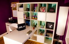 Check out this IKEA Share Space fan's workspace! It's a small space solution using the EXPEDIT desk/shelving combo.