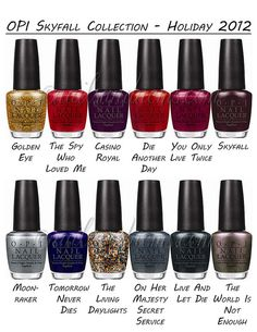 OPI Skyfall Holiday 2012 Collection