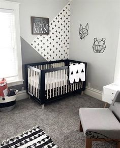 Get inspired by Modern Nursery Design photo by Room Ideas. Wayfair lets you find the designer products in the photo and get ideas from thousands of other Modern Nursery Design photos. Baby Boy Nursery Room Ideas, Baby Boy Rooms, Kids Bedroom, Kids Rooms, Small Baby Nursery, Baby Room Decor For Boys, Baby Bedroom Ideas Neutral, Baby Boy Nursey, Babies Nursery