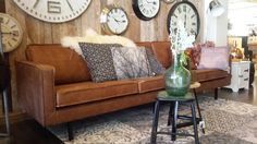 Rodeo sofa 3-seater vintage bruin leder Be Pure