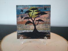 Tree in sunrise by TsWorldOfArt on Etsy, $8.00