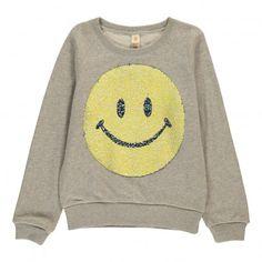 Sweat Smiley Sequins Anzy Gris chiné  Bellerose
