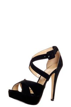 Beautiful shoes  Sarah Black Suedette Platform Heels £30    www.boohoo.com