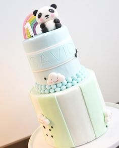 My Sweet Dear | Eef Lillemor cake with panda and rainbow on top