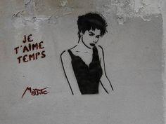 """Termopiles"" Paris street Art by Miss Tic"