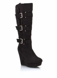 Tall Wedge Boots