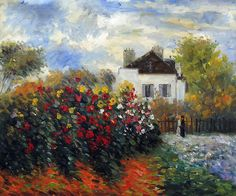 Monet - The Garden of Monet at Argenteuil, 1873. Hand painted oil painting reproductions available at overstockArt.com #art