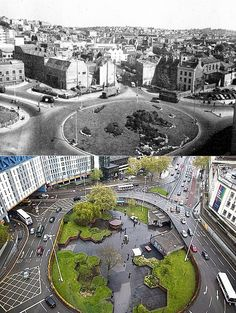 Bristol Then & Now - St. James's Barton roundabout | by brizzle born and bred