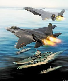 China's high-low stealth fighter mix strategy is evolving rapidly. Stealth Aircraft, Navy Aircraft, Fighter Aircraft, Military Helicopter, Military Aircraft, Air Fighter, Fighter Jets, Airplane Fighter, Experimental Aircraft