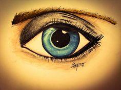 I did draw eye - progresso pencils