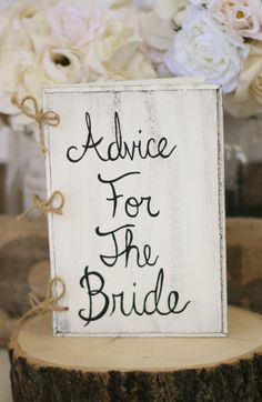 Leave this out at your reception to see what advice your guests have to offer!