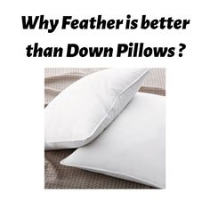 Find Out, Why Faether Pillows is better than Down Pillows ? Read the Comparison between two. Down Pillows, Bed Pillows, Feather Pillows, Pillow Cases, Pillows