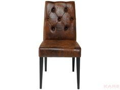 Padded Chair Casual Buttons Vintage Material: cover: microfibre 100% polyester, legs: beech lacquered, frame: beech, polyurethane foam 30kg/m³ Size: 0,9 x 0,45 x 0,58 m Weight: 6,25 kg Номер пункта: 77806