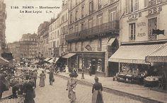 rue Lepic - Paris 18e - Montmartre - La rue Lepic vers 1900 (ancienne carte postale).