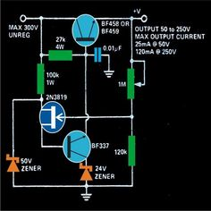 This simple MOSFET controlled transformerless power supply circuit can be used for delivering a continuously variable 0 to DC output and a current control from 100 mA to 1 […] Simple Electronics, Hobby Electronics, Electronics Basics, Electronics Projects, Electronic Circuit Design, Electronic Engineering, Electrical Engineering, Chemical Engineering, Radios