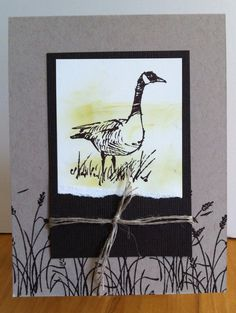 Design inspired by another using Stampin' Up Wetlands | Lucille Wenzel