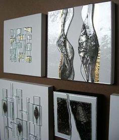 Beautiful fused glass art panels