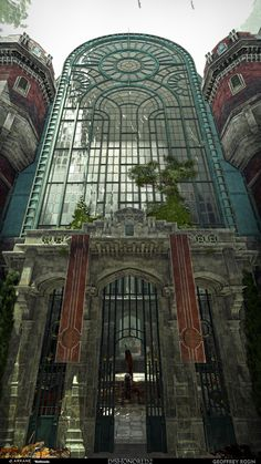 Dishonored : Death of the Outsider // Museum of Natural History, Geoffrey Rosin Beautiful Architecture, Beautiful Buildings, Art And Architecture, Beautiful Places, Steampunk Architecture, Art Nouveau, Haus Am See, Art Deco Buildings, Fantasy Landscape