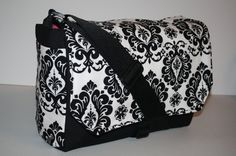 MESSENGER BAG Laptop Bag Diaper Bag Book Tote Purse by XcessRize, $79.99