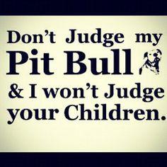 Dont Judge my Pitt Bull! Girls Best Friend, My Best Friend, I Love Dogs, Puppy Love, Pitbulls, Dobermans, Pit Bull Love, Don't Judge, True Stories