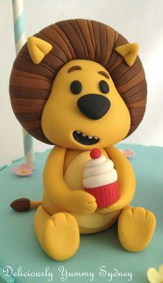 30 Birthday Cake, Twin Birthday, First Birthday Parties, Jungle Theme Parties, Safari Party, Lion Cakes, Polymer Clay Animals, Cupcake Cookies, Cake Designs