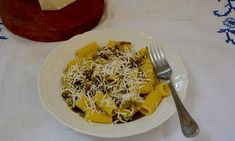 Rachel Roddy's aubergine and salted ricotta pasta.