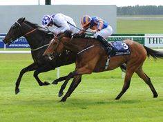 Pleascach fends off Found to win the Irish 1000 Guineas at The Curragh.