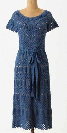 Crinochet: Vestidos inspirados Designers 'Crochet