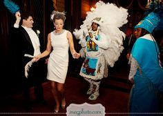 Mardi Gras Indians are a #louisiana #tradition.  They typically announce the new bride and groom at the wedding ceremony.