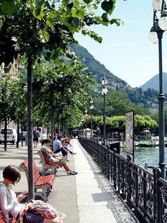 Along the lake - Lugano, Switzerland