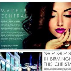 MakeupCentral as featured in Dluxe Magazine  Birmingham's first bespoke On-Demand make-up service
