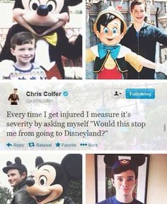 I relate to Chris Colfer in everything I love him so much