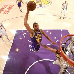Rudy Gobert of the Utah Jazz shattered the NBA single-season dunk record. His 306 dunks passes Dwight Howard 's previous record total of Watch the video above to see all of Gobert's dunks from his record-breaking season. Rudy Gobert, Lebron Kobe Jordan, Lou Williams, Devin Booker, Dwight Howard, Christmas Stocking Stuffers, Utah Jazz, Recorded Books