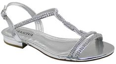 SILVER DIAMANTE FLAT LOW HEEL PROM EVENING WEDDING SHOES SANDALS UK 3 4 5 6 7 8 | eBay