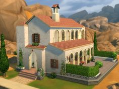 This medium house was created as a restaurant at first. Now it's a nice mediterranean-style place for living. It's furnished. It also has a spacious patio with fireplace, which can become a center...