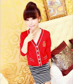 [qz006] เสื้อผ้า Pre Order เสื้อผ้าแฟชั่น เสื้อคลุมไหมพรม เสื้อคลุมเกาหลีแขนยาว | SoMoreMore.Com