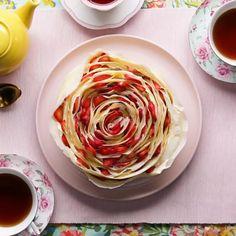 Strawberry Rose Crepe Cake Recipe by Tasty