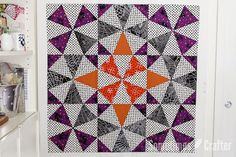 Kaleidoscope block tutorial using Marti Michell's Kaleido Ruler